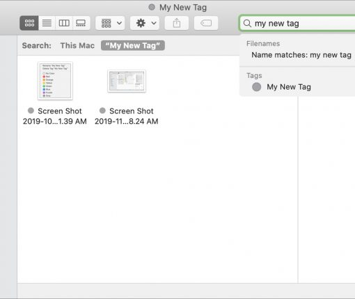 Using tags on Mac