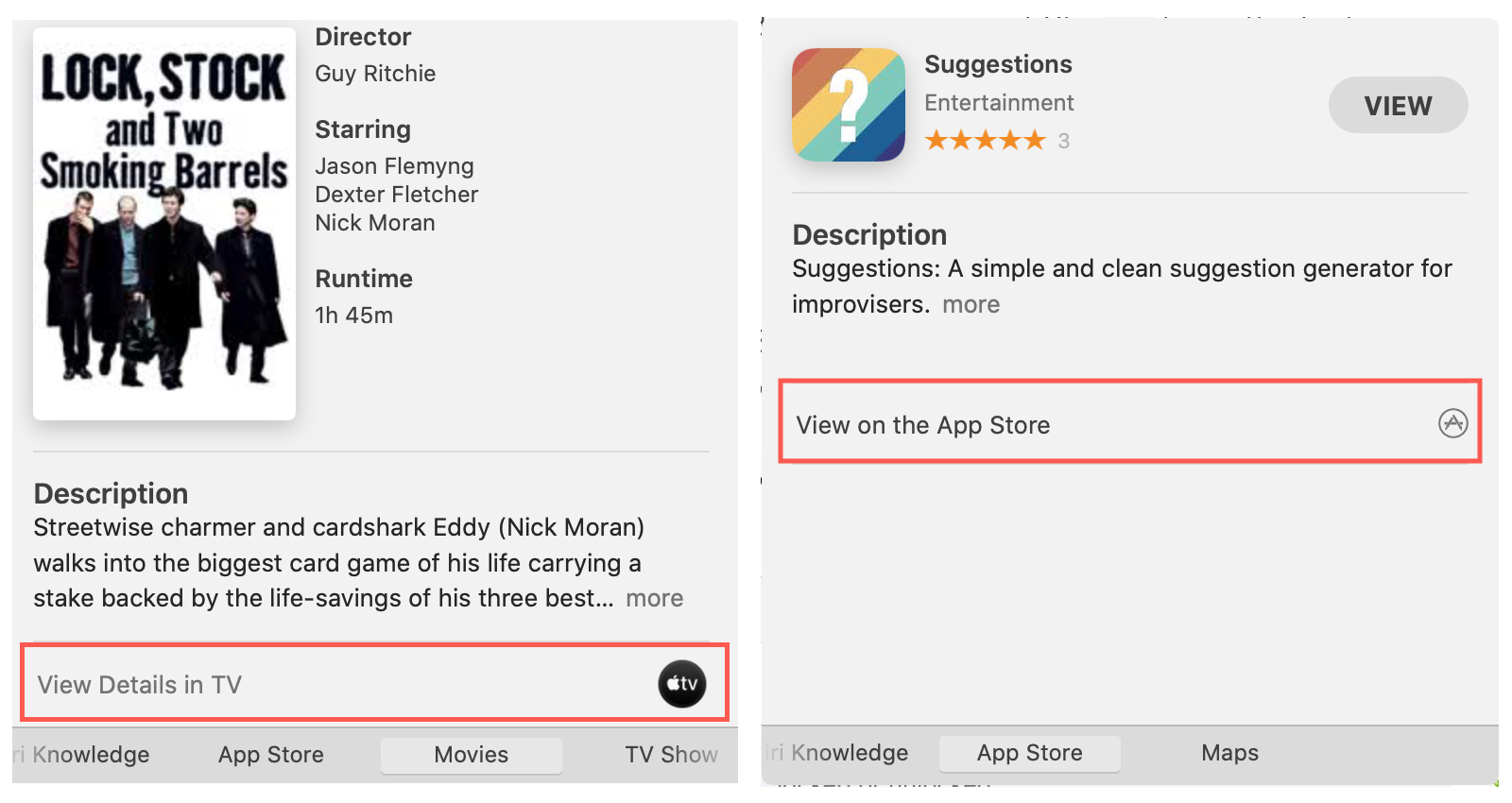View TV or App Store Look Up Mac