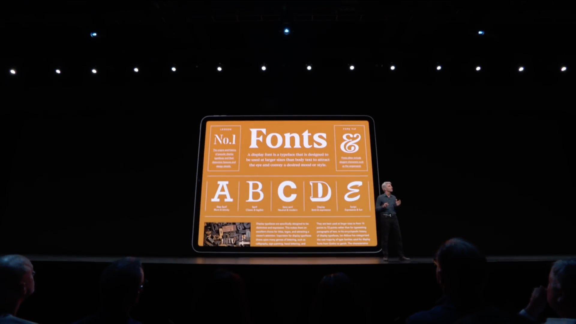 iPad fonts