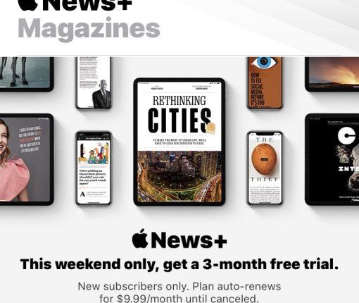 Apple News+ Deal