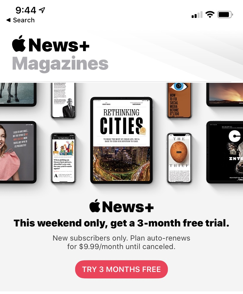 Apple News+ Deal