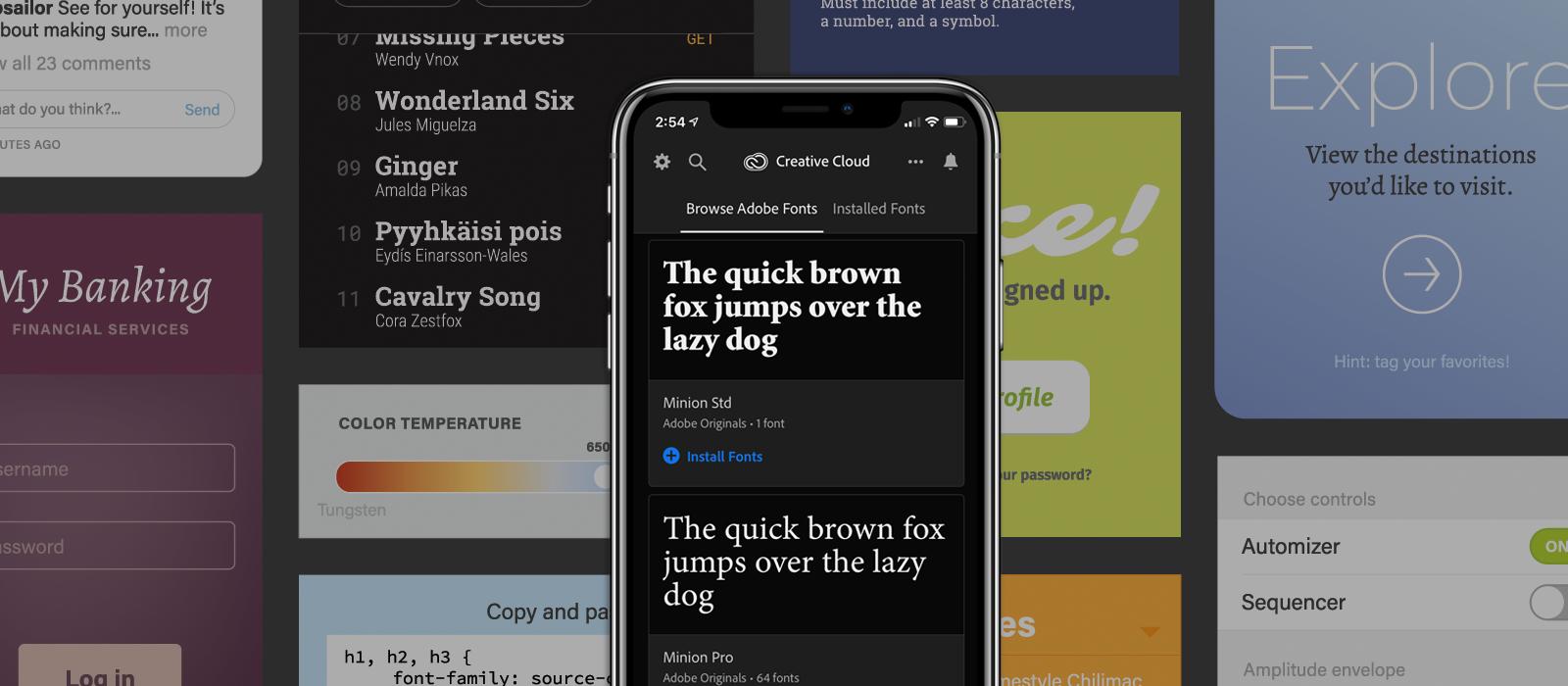 Adobe Creative Cloud mobile fonts