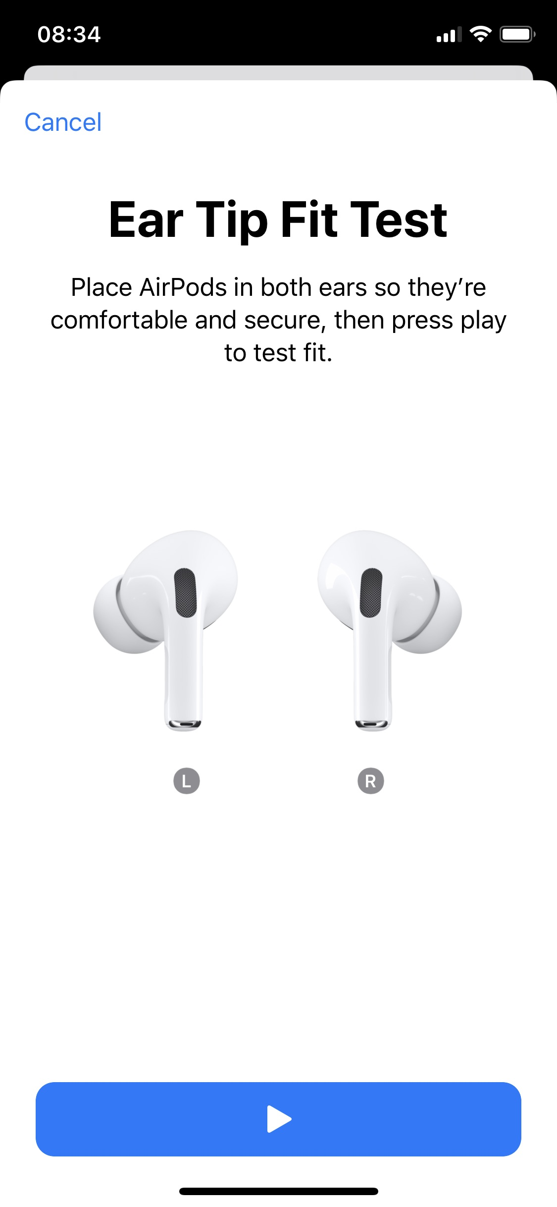 Ear Tip Fit Test - Play