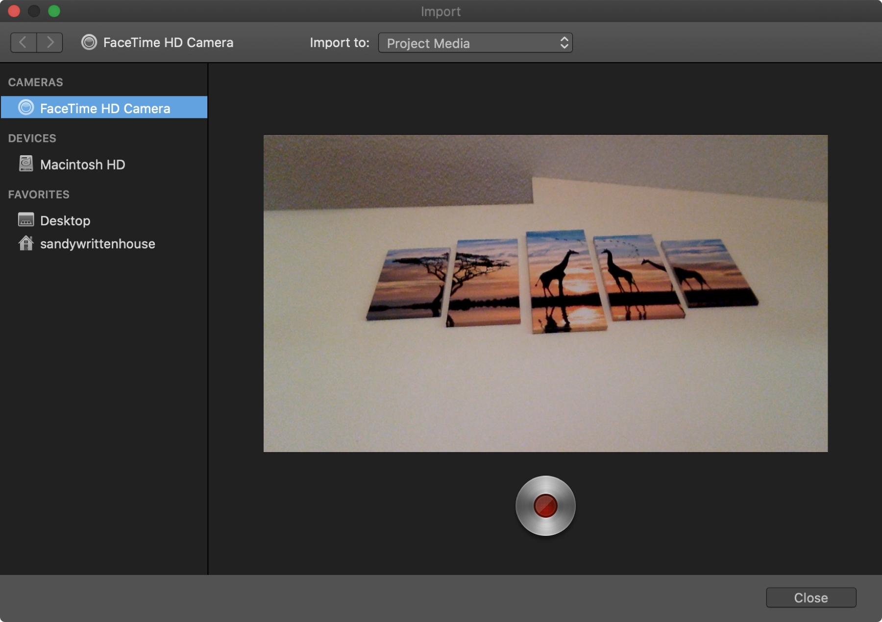 iMovie Record Video FT Camera Mac