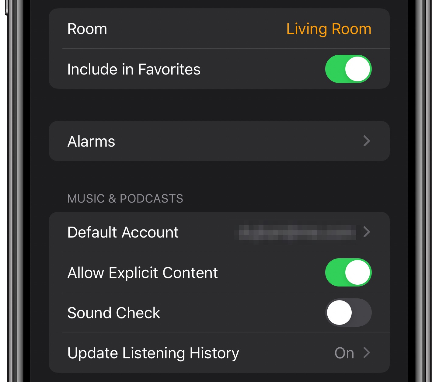 Transfer audio iPhone HomePod
