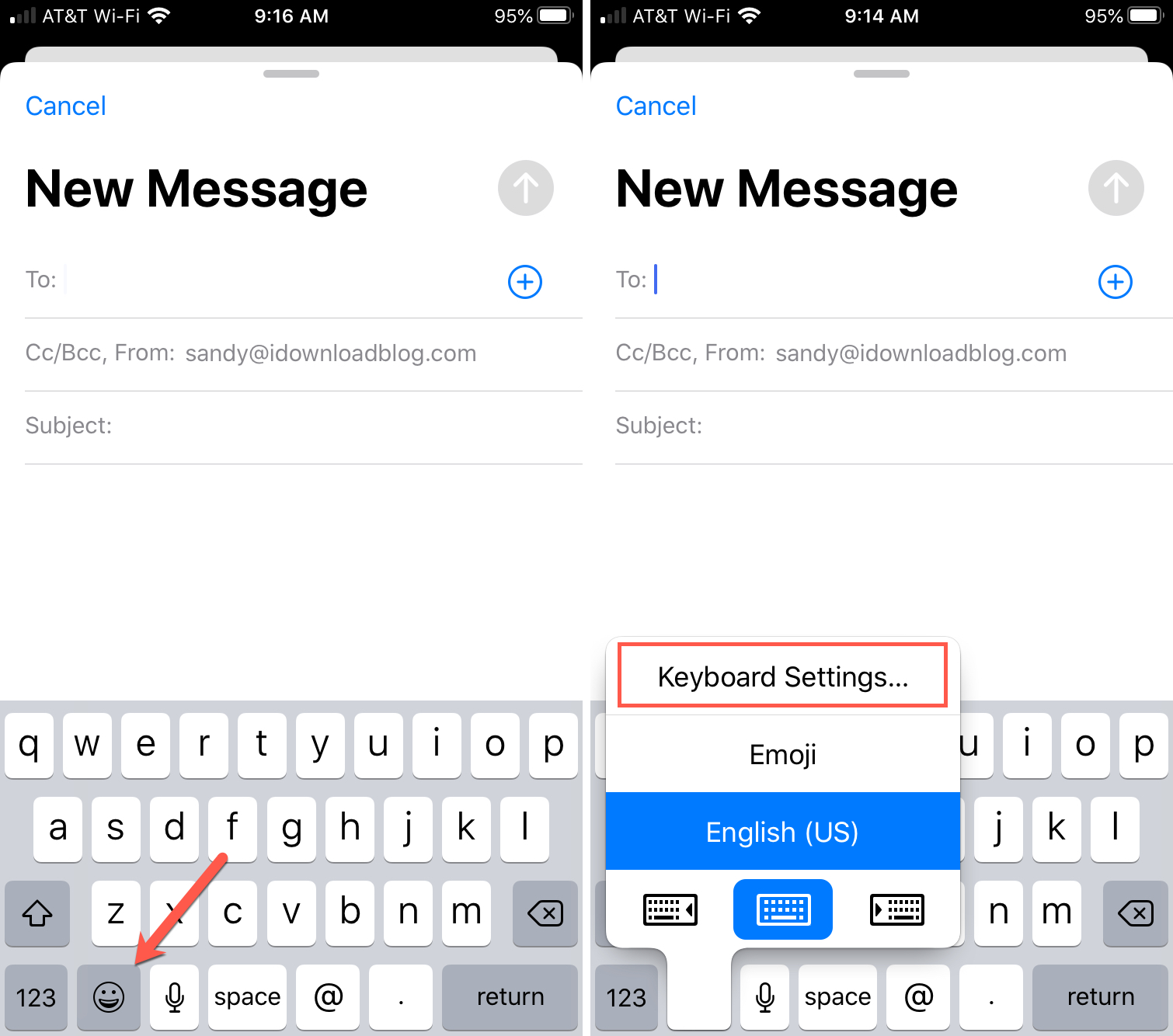 iPhone Keyboard Access Settings