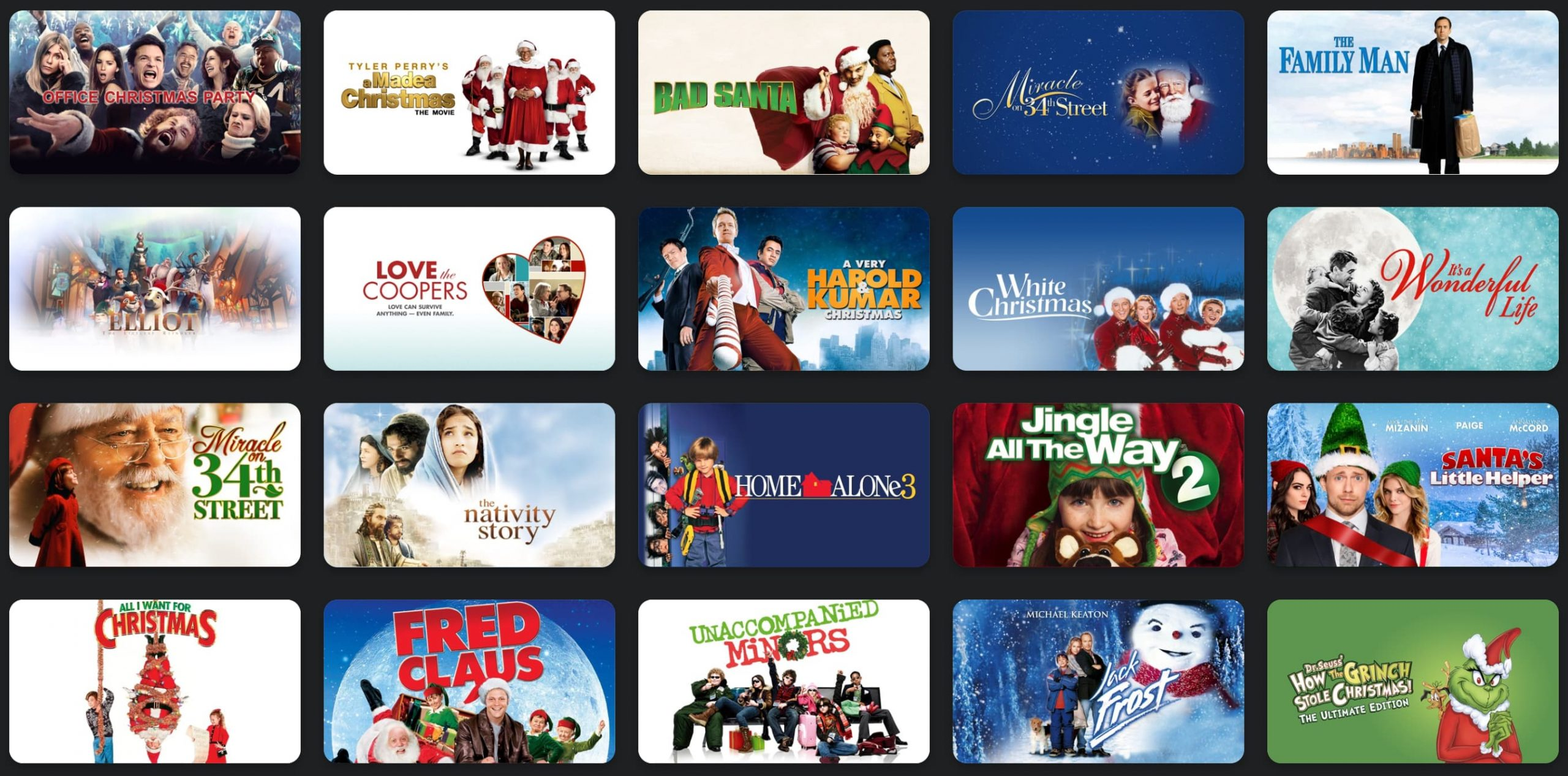 iTunes holiday movie sale