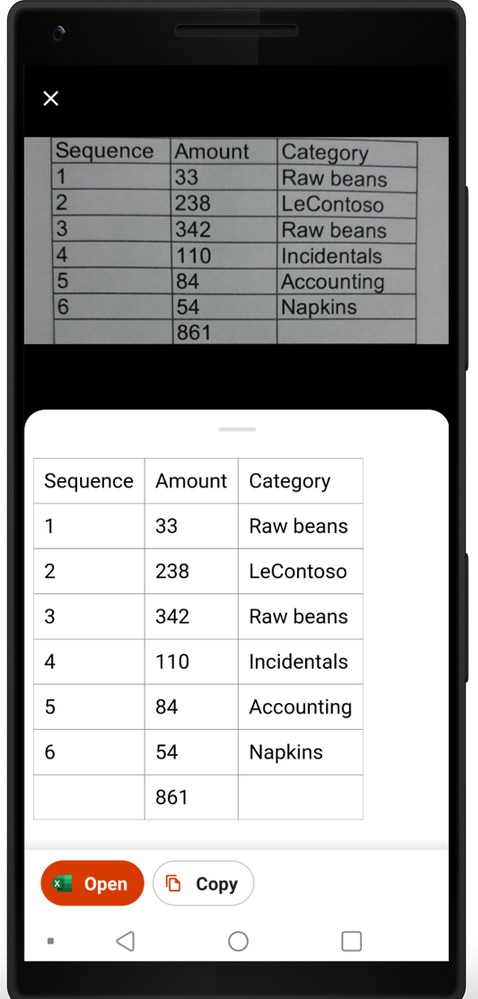 Office Mobile Excel