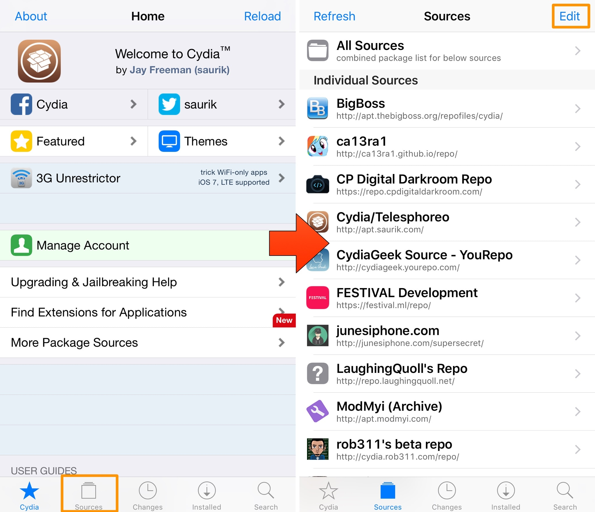 cydia sources