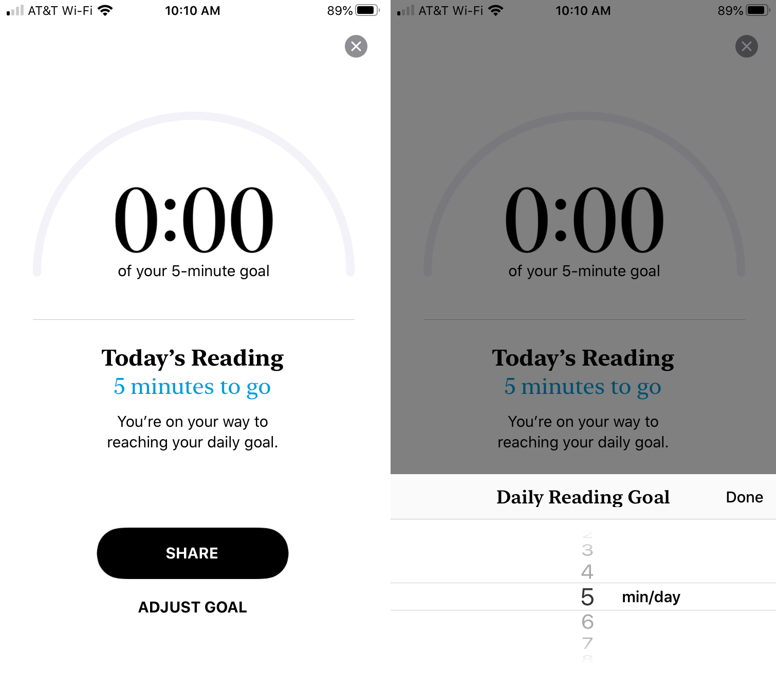Adjust Daily Reading Goal Books iPhone