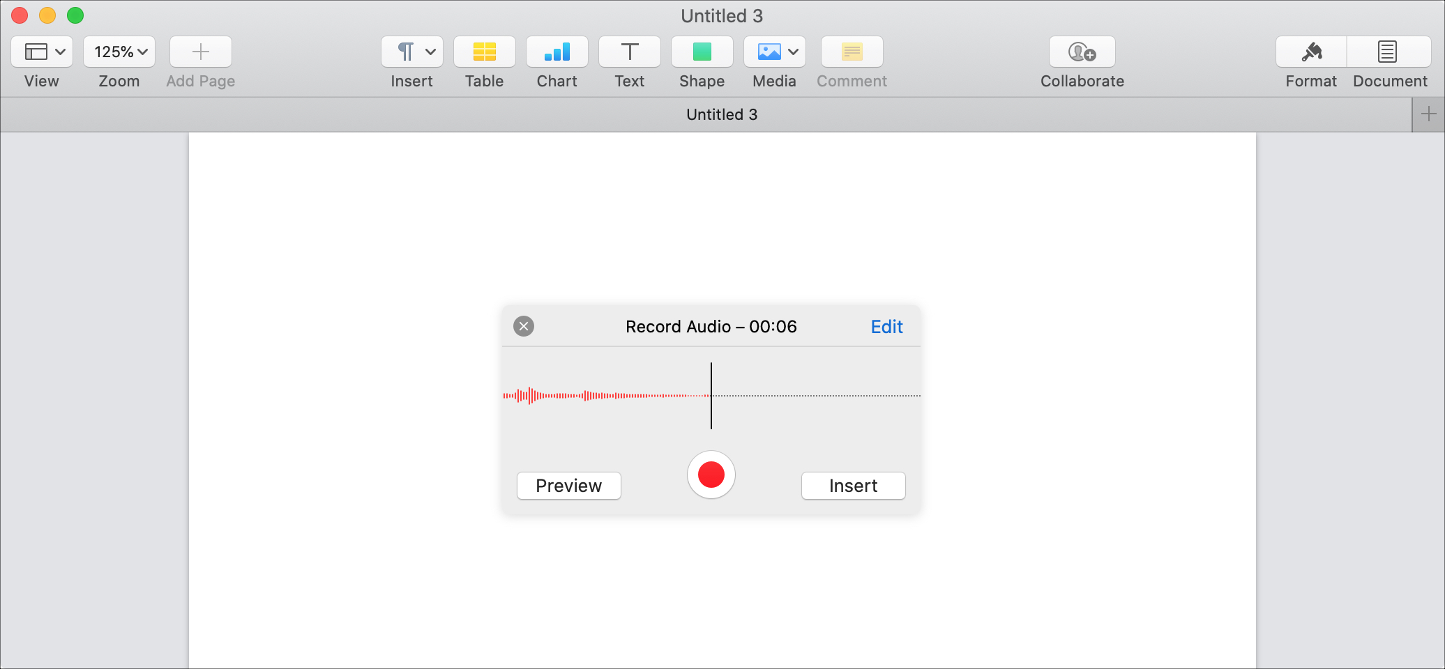 Audio Recording Options Pages Mac