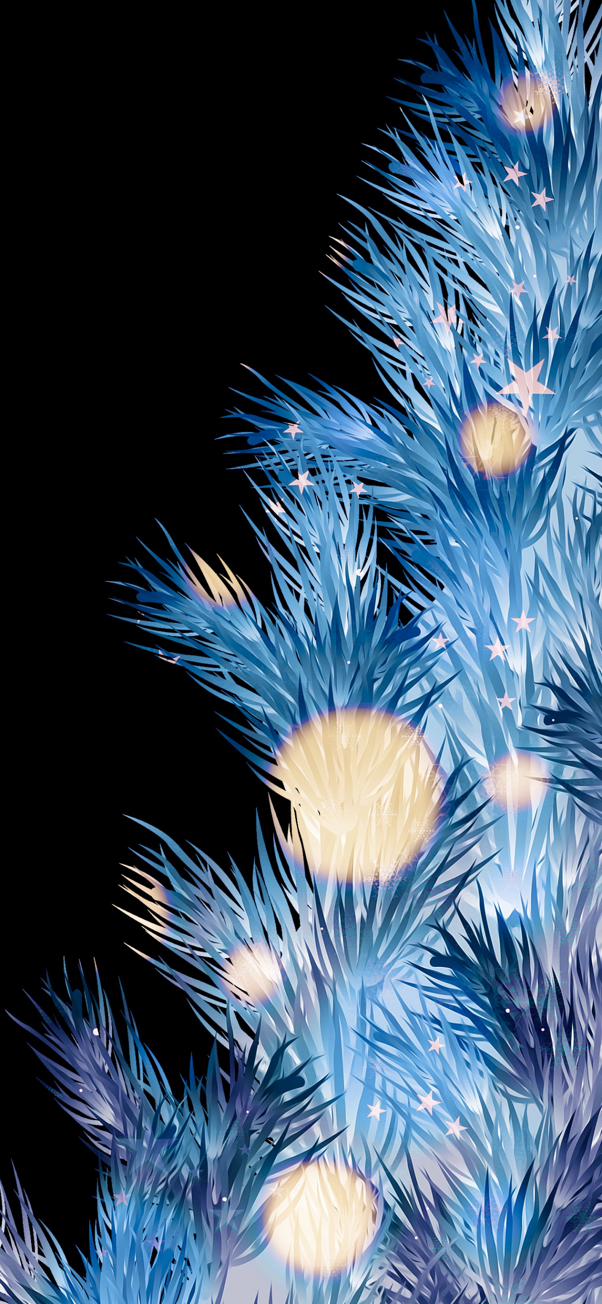 Christmas wallpaper iPhone AR72014 christmas tree blue