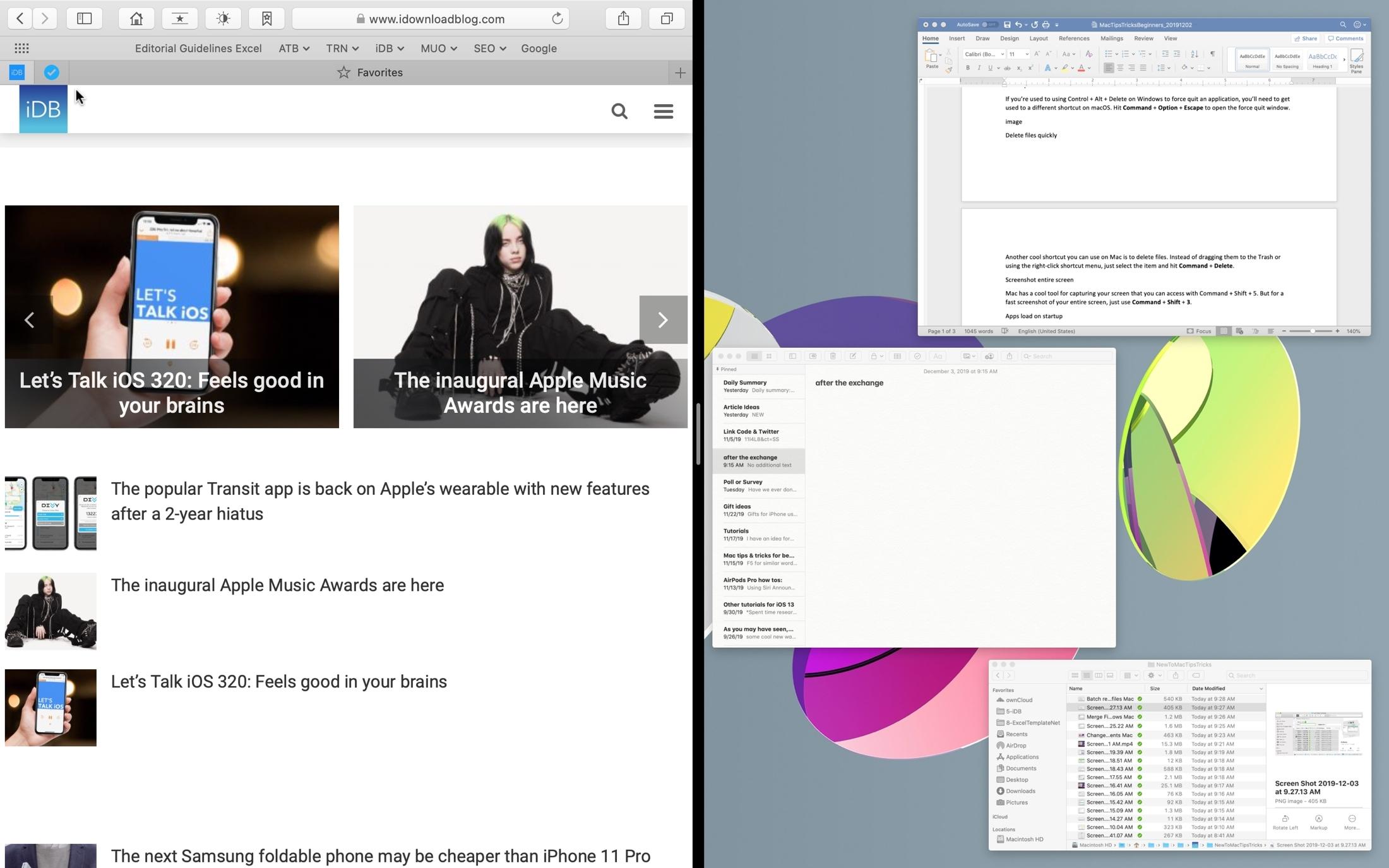 Enter Split View on Mac