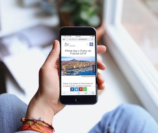 French Article in Safari iPhone