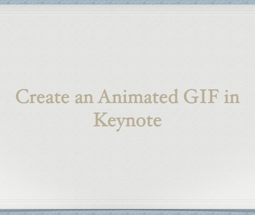 How to create an animated GIF in Keynote