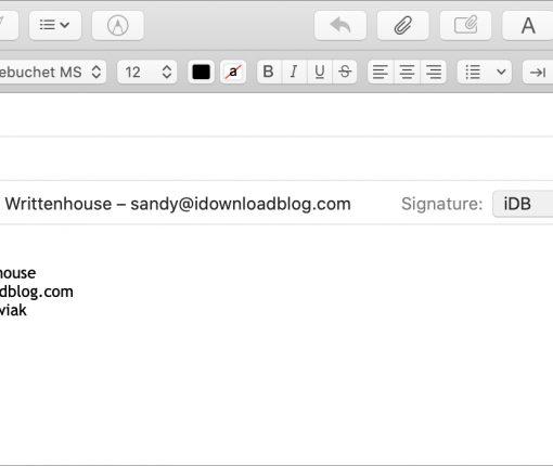 Manage Multiple Mail Signatures Mac