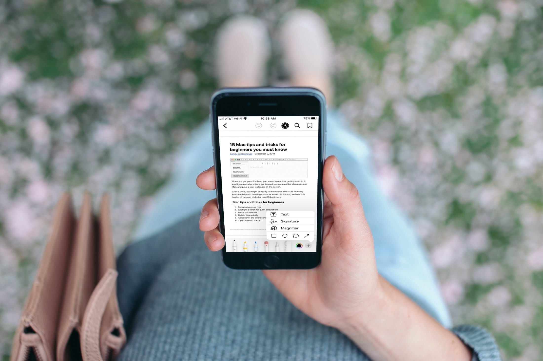 Mark Up PDF in the Books app iPhone