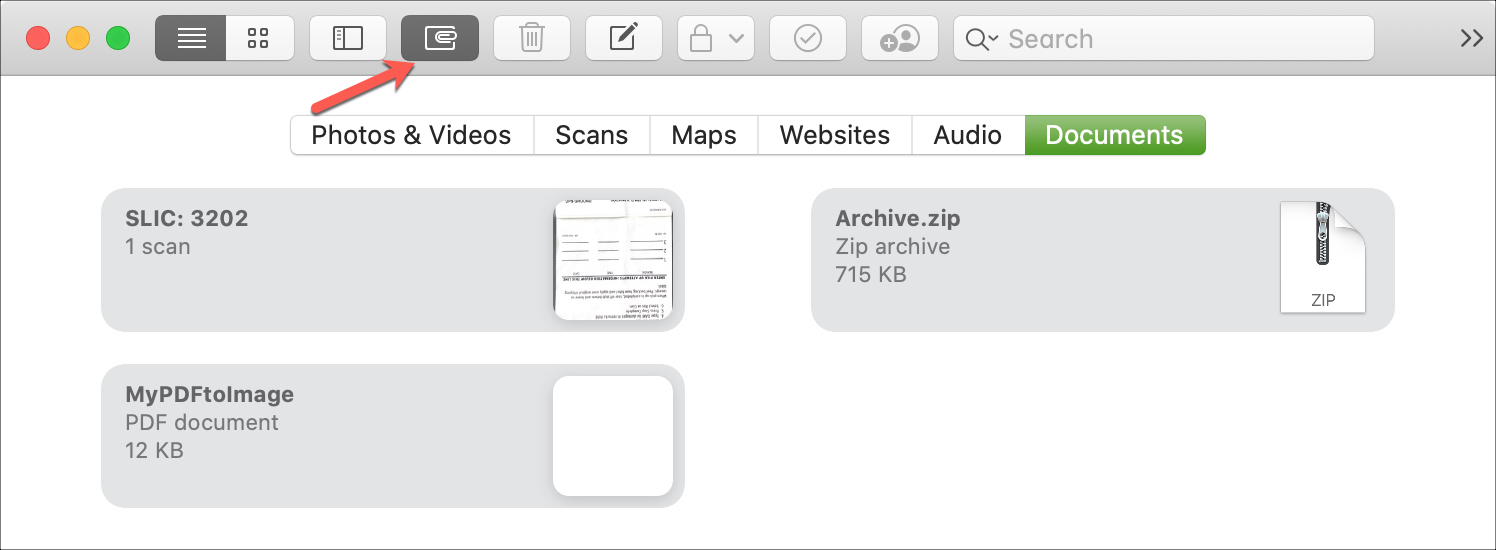 Notes View Attachments Only Mac