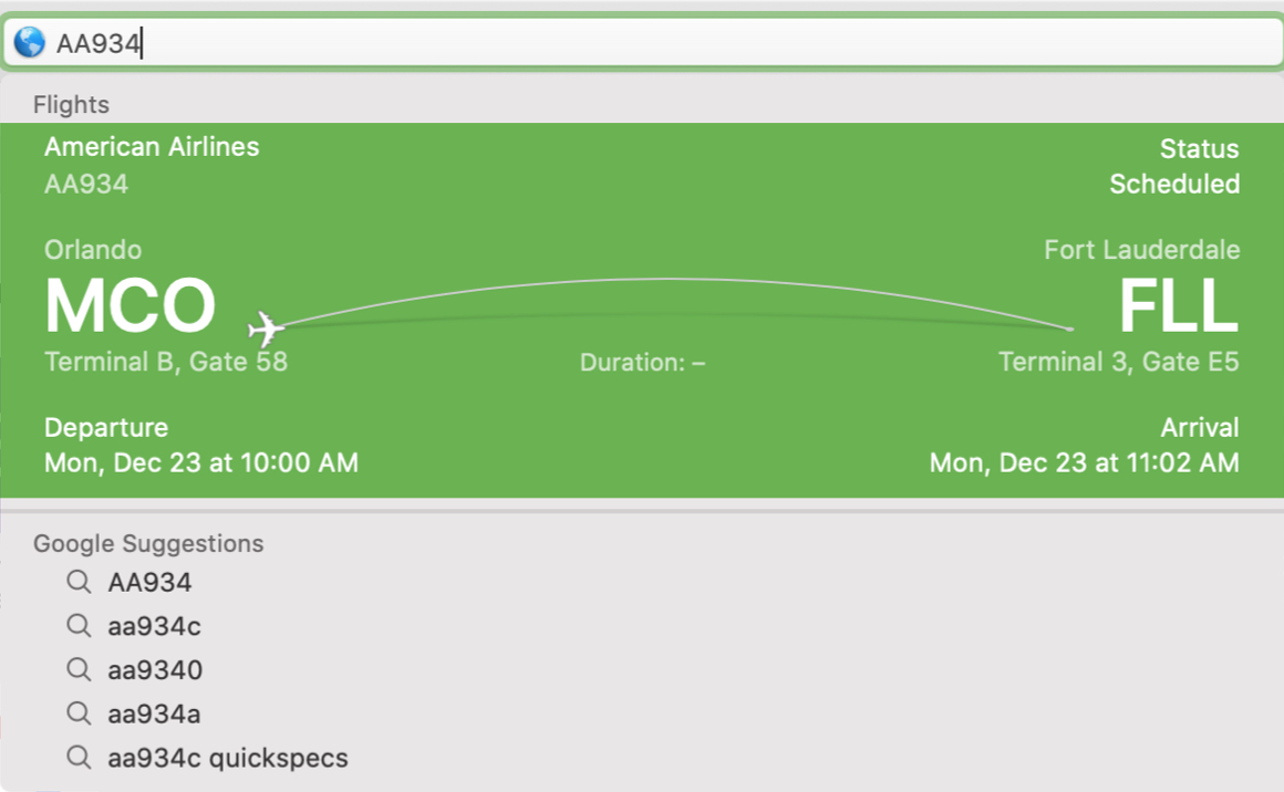 Safari Search Flights Mac