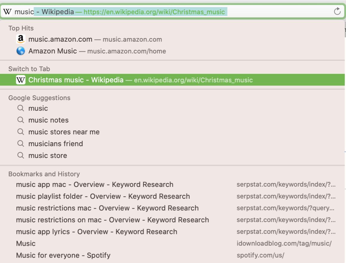 Safari Search Switch Tabs Mac