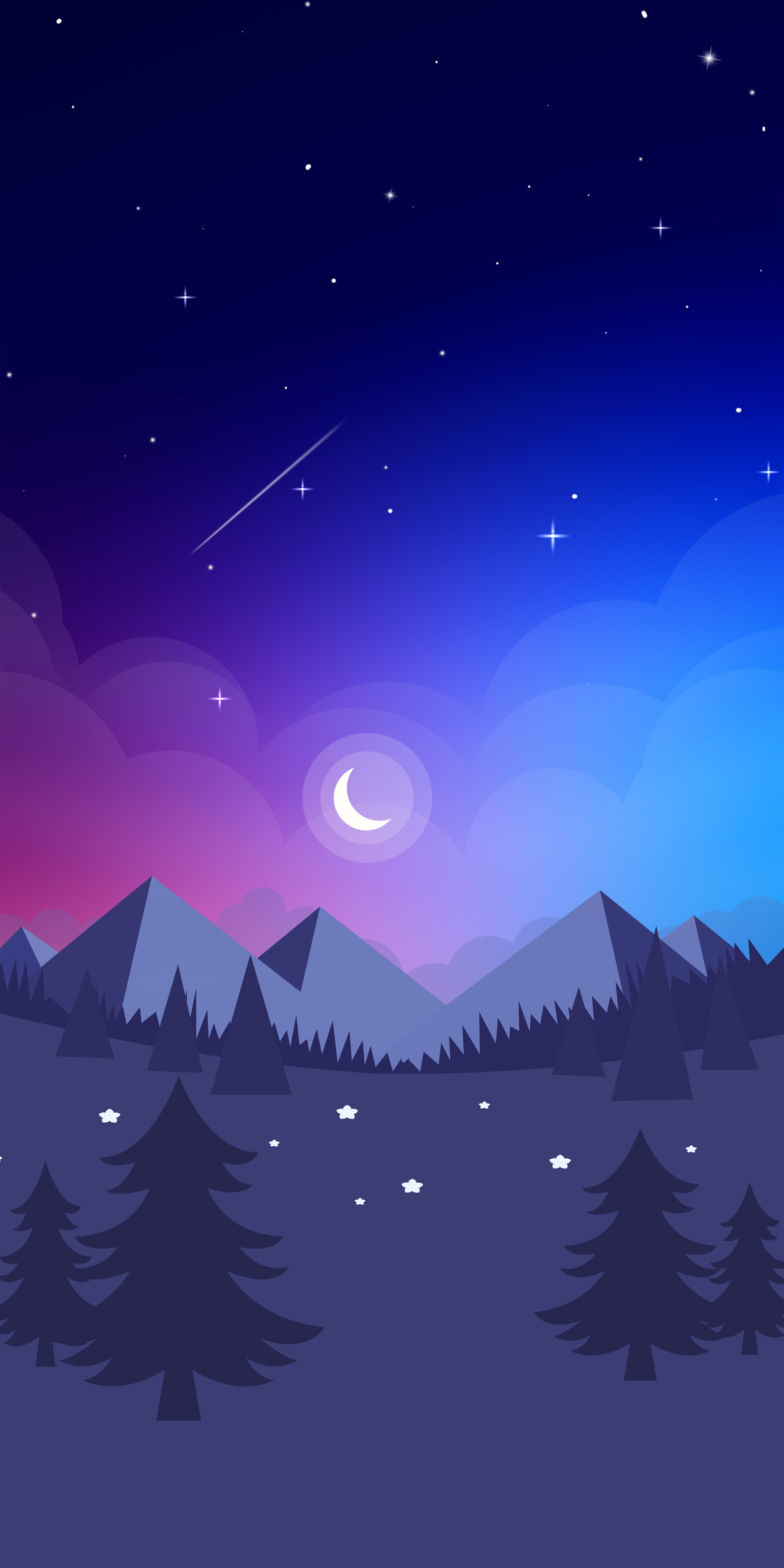 Frozen landscape wallpapers for a snowy iPhone