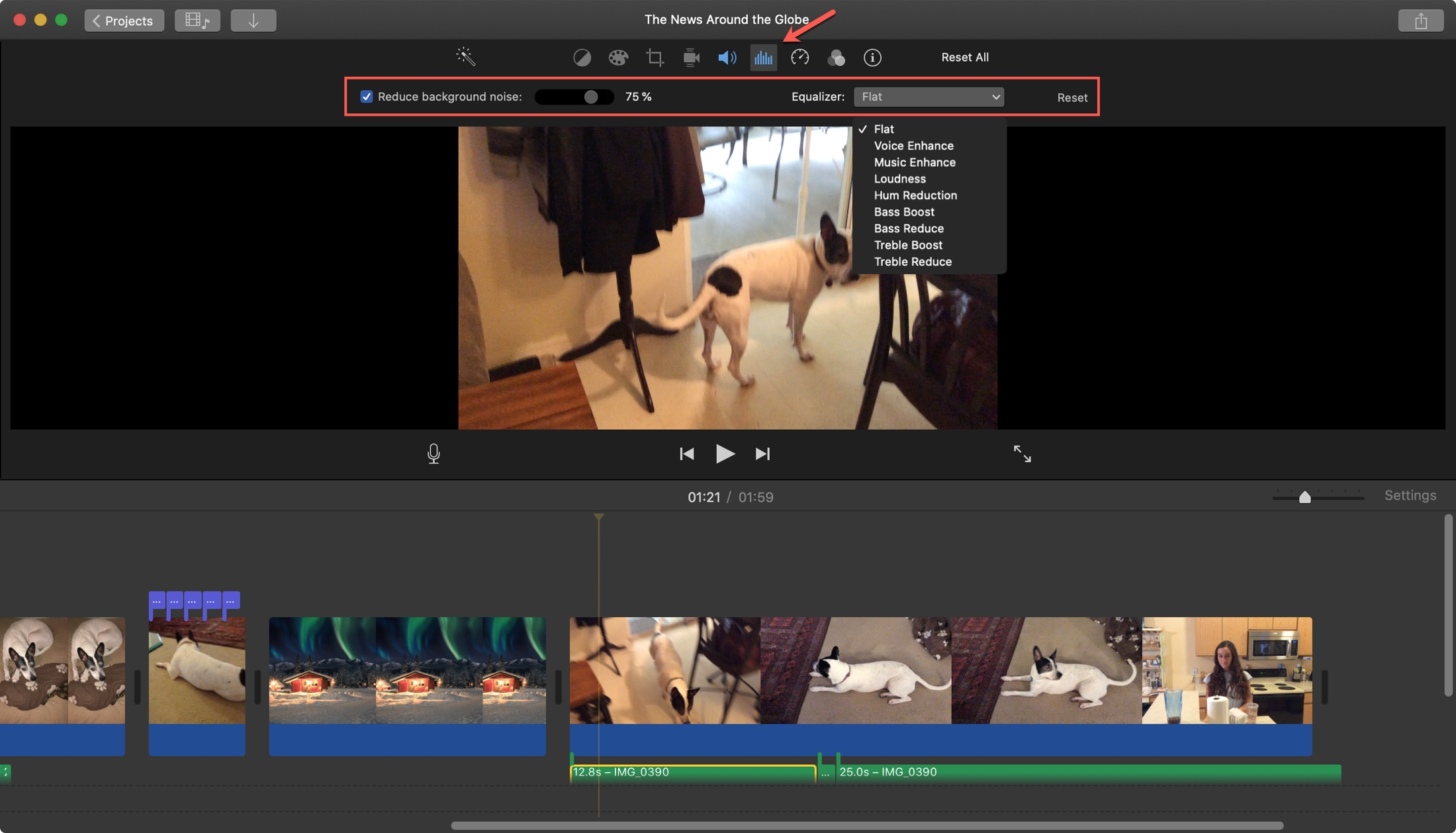 iMovie Remove Background Noise Mac