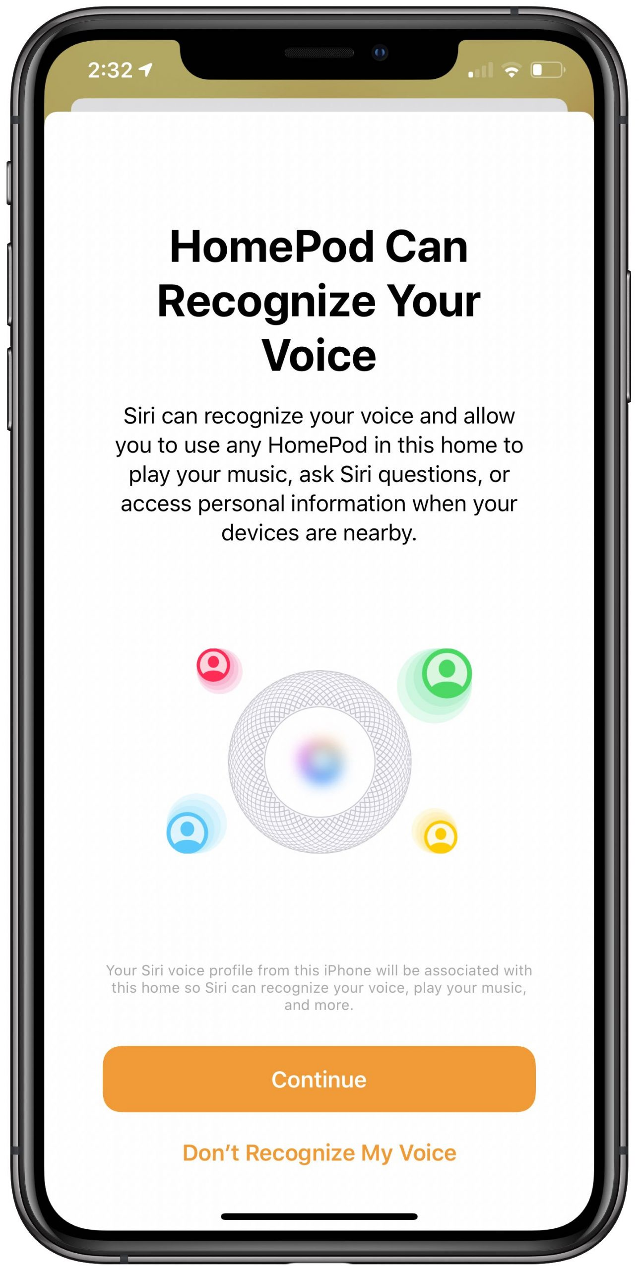 HomePod different voices