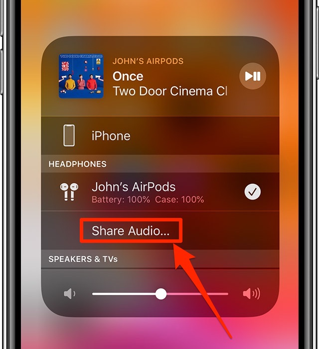 share audio iPhone