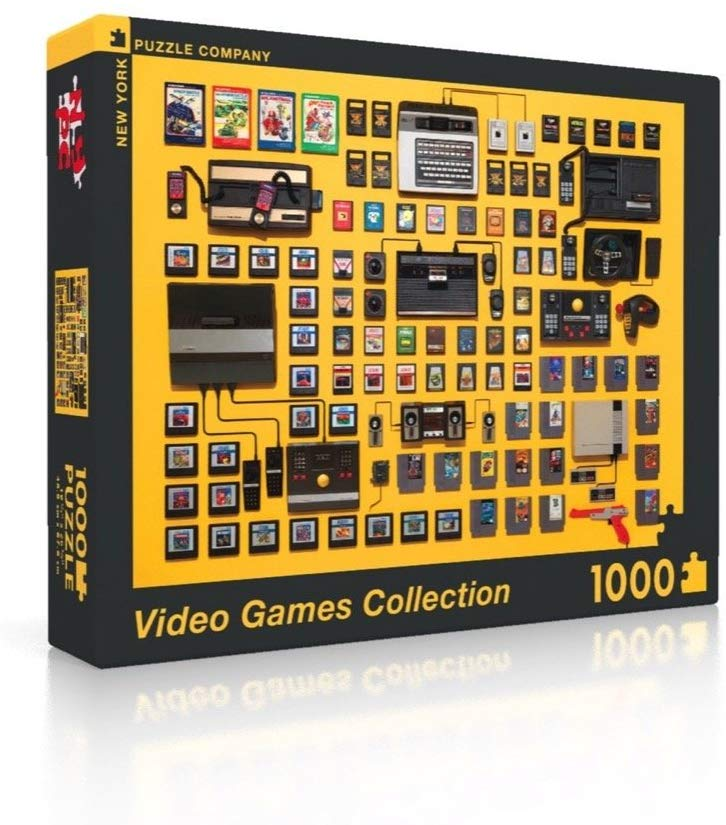 video games collection puzzle for gamers