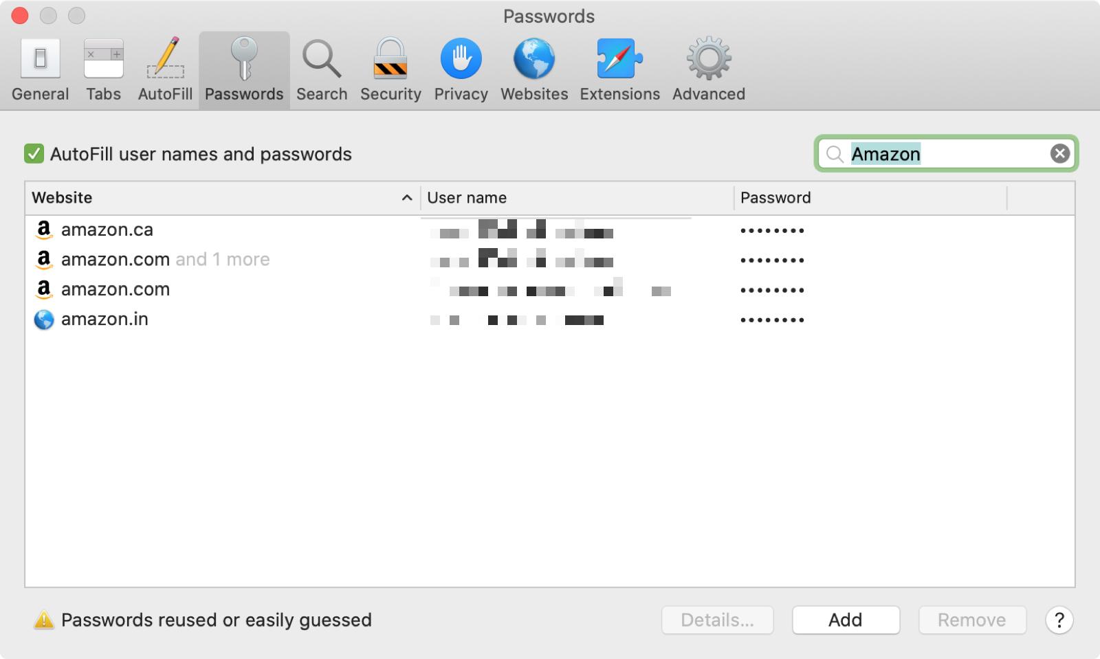 Amazon Passwords Mac