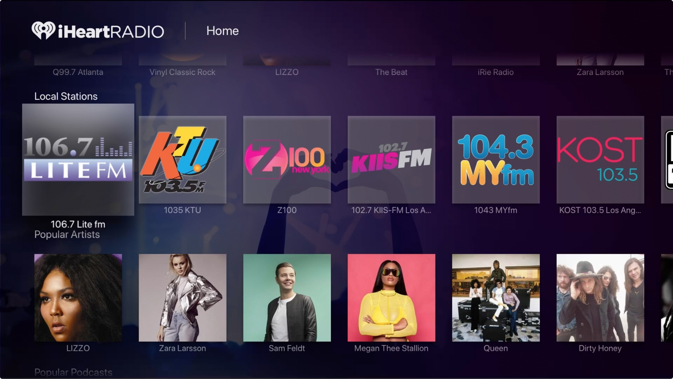 Aplicaciones de Apple TV Radio - iHeartRadio