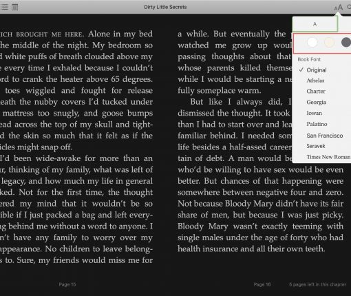 Books Appearance Dark Mode Mac