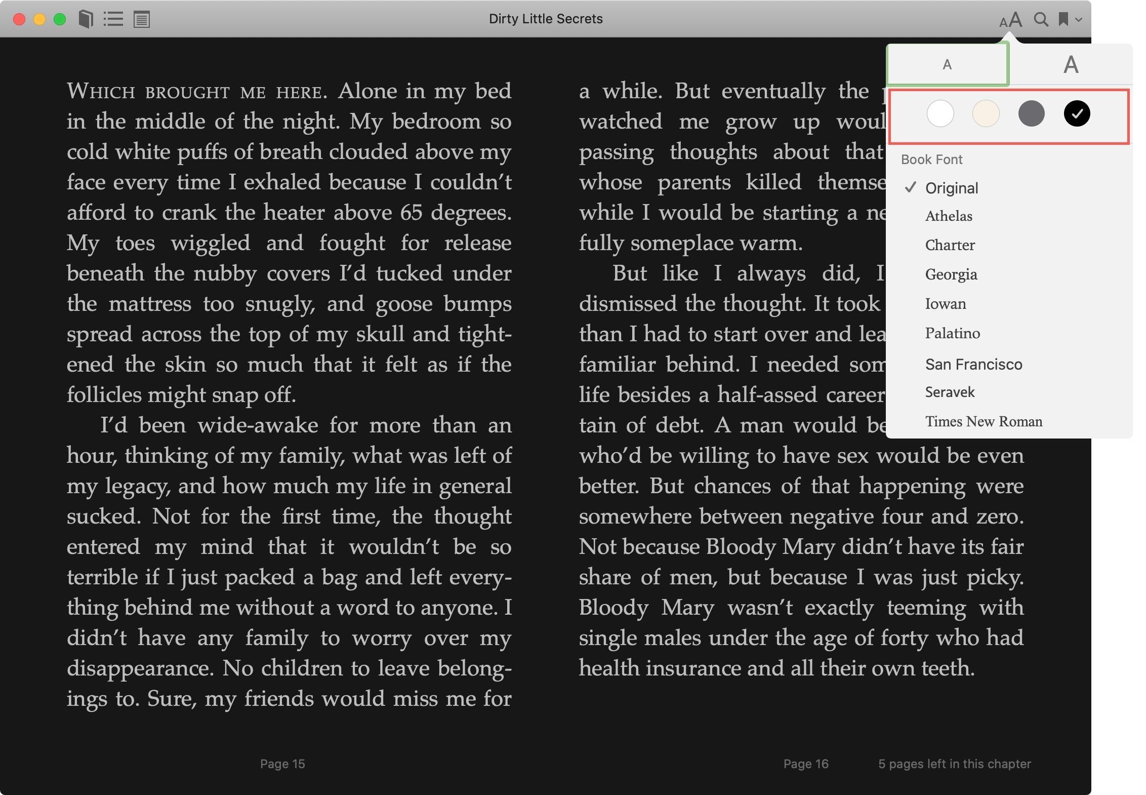 Books Appearance Dark Mode Mac