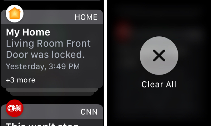 Clear All Apple Watch Notifications