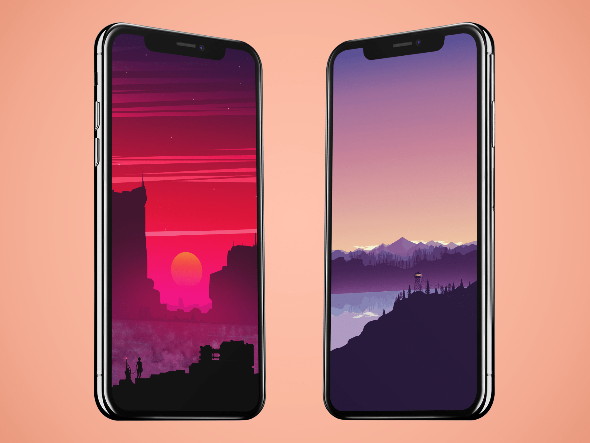 Colorful vector landscape wallpapers ByArthur1992aS idownloadblog mock up
