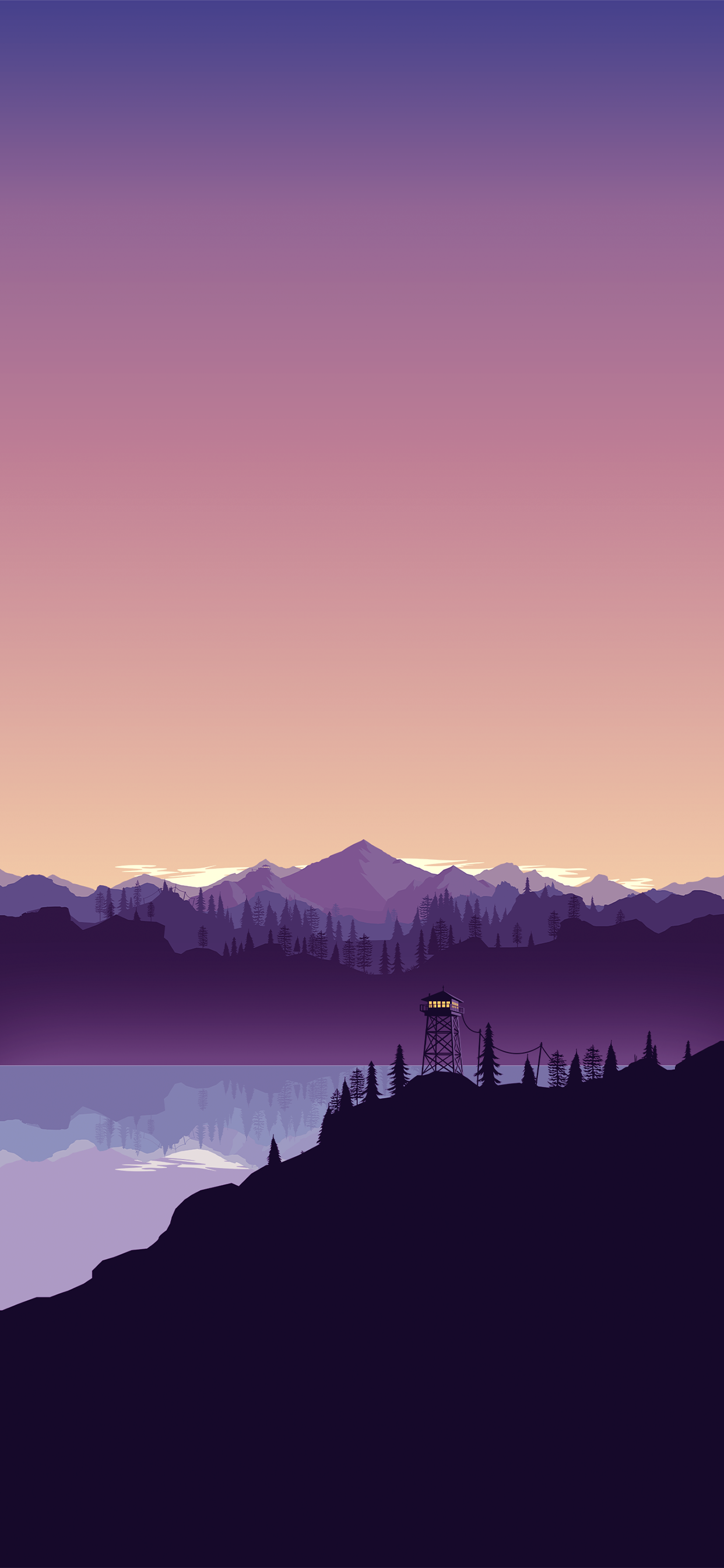 Colorful Vector Landscape Wallpaper For Iphone