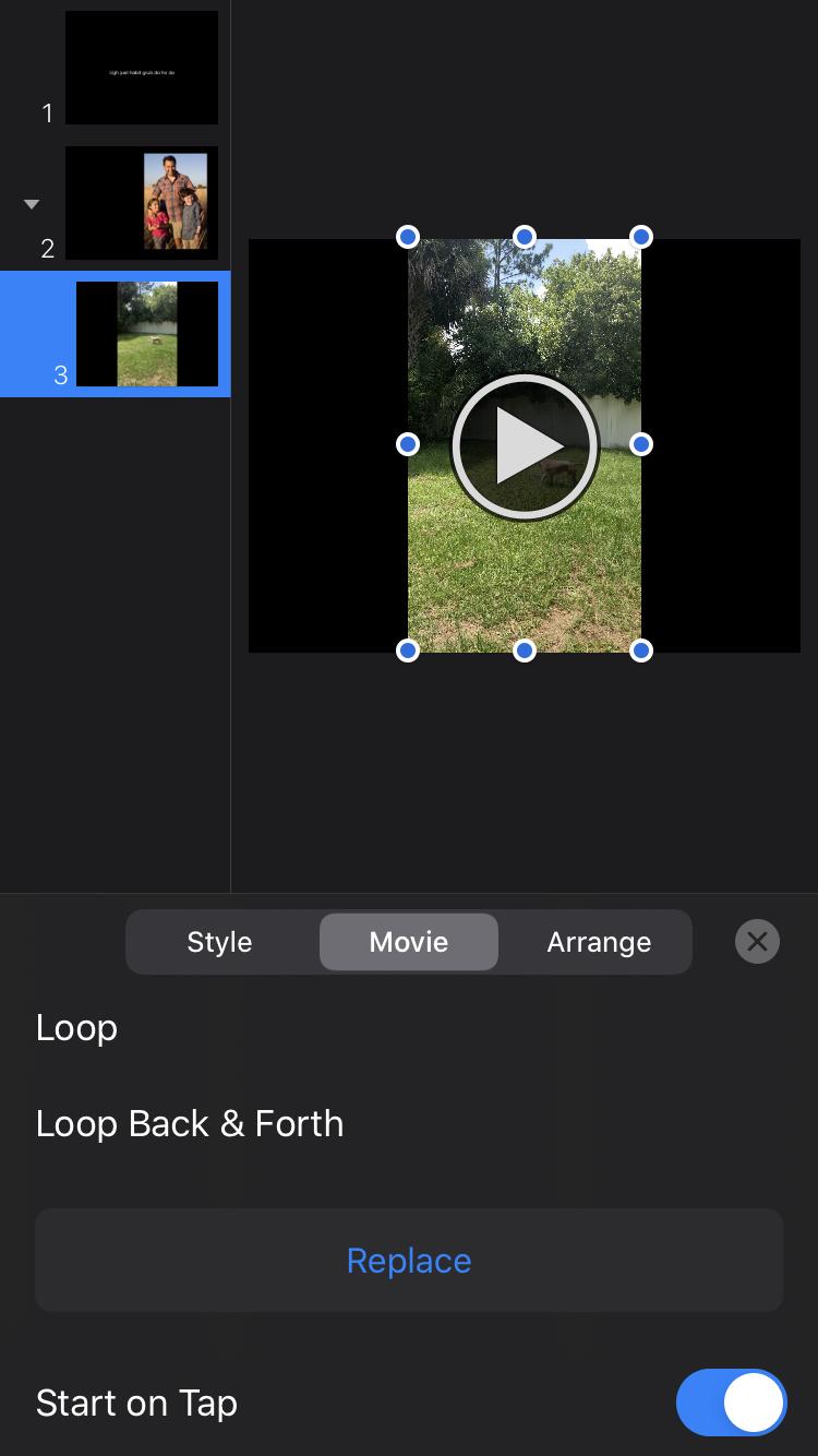Format Video Keynote iPhone