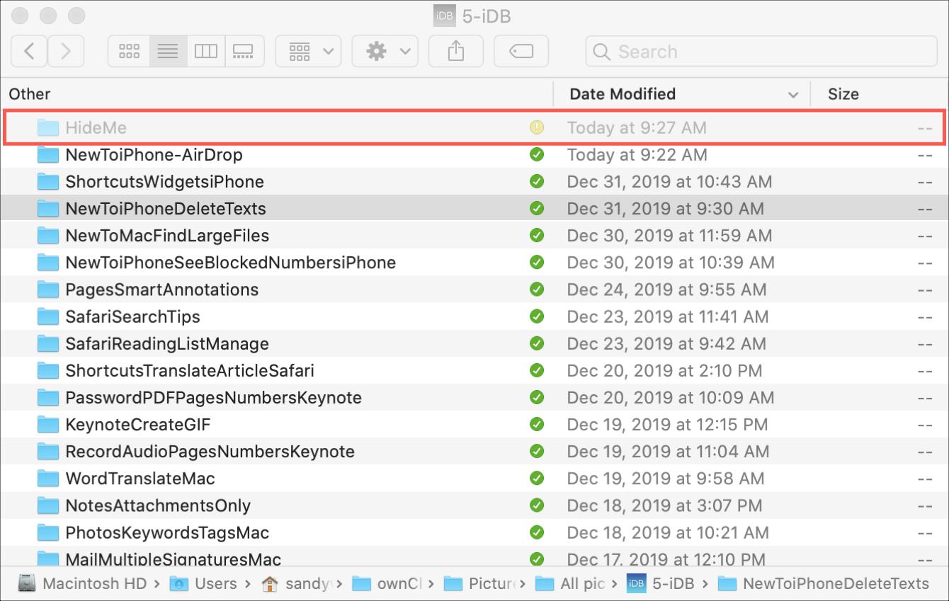 Hidden Folder Visible Mac