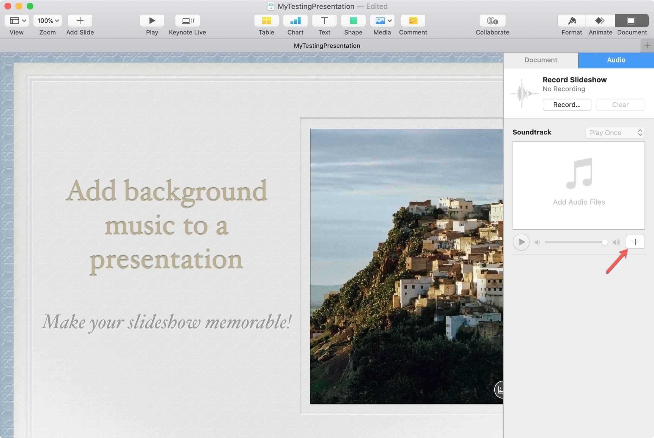 Keynote Add Soundtrack Mac