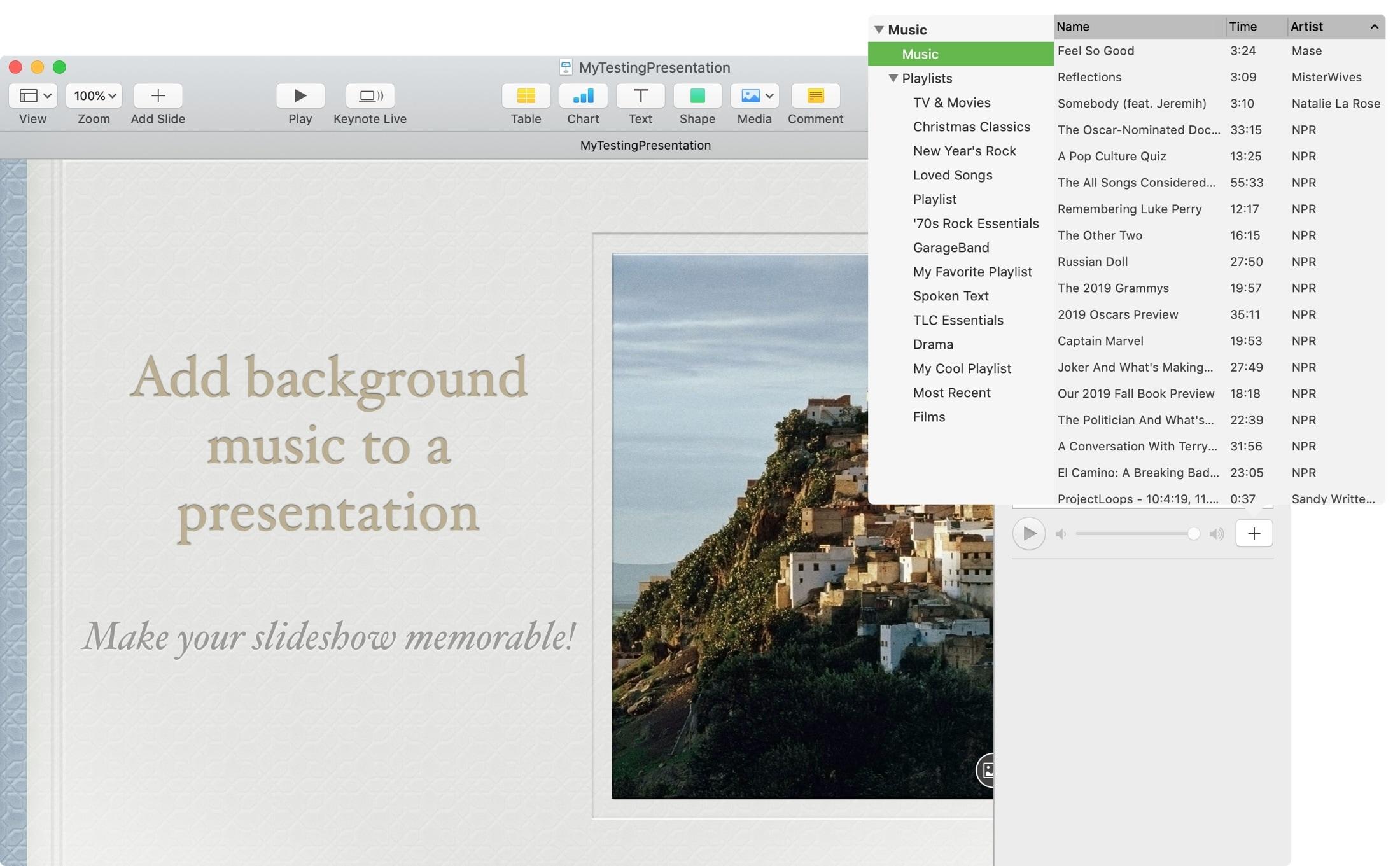 Keynote Pick Soundtrack Mac