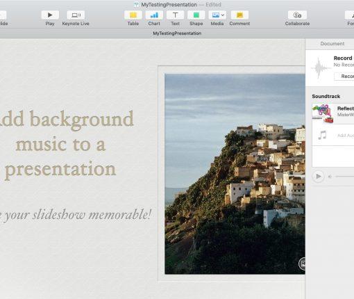 Keynote Soundtrack Mac
