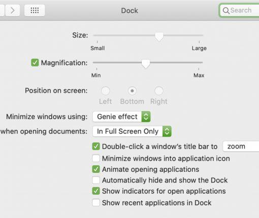 Lock Dock Mac System Preferences
