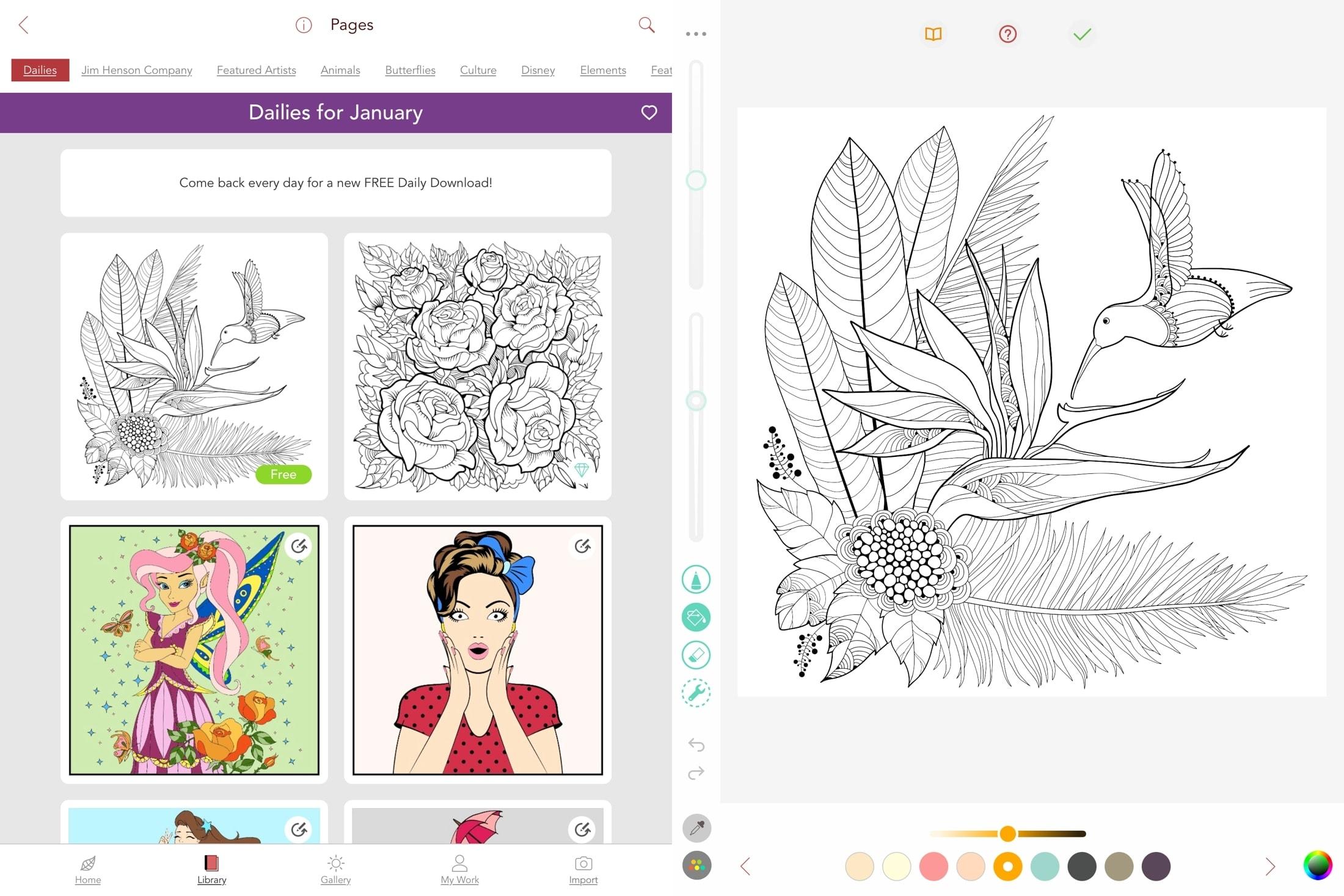Pigmento en iPad
