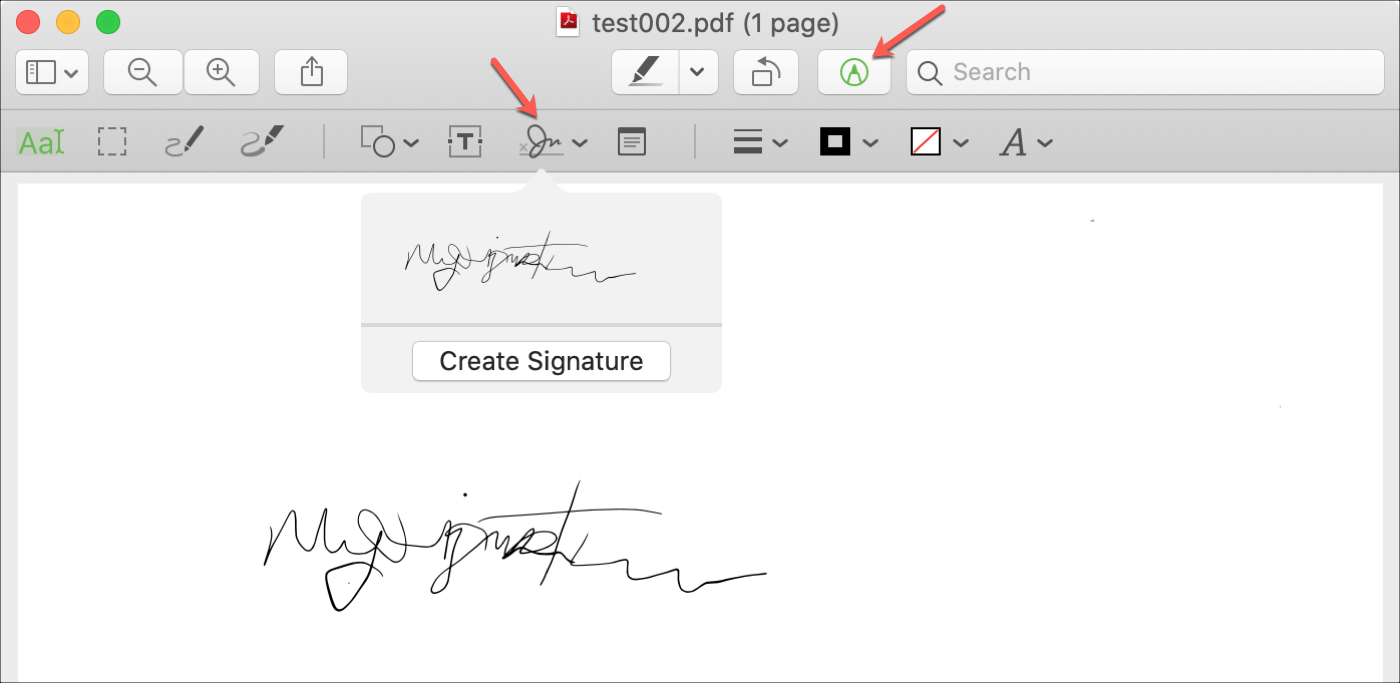 Preview Markup Add Signature Mac