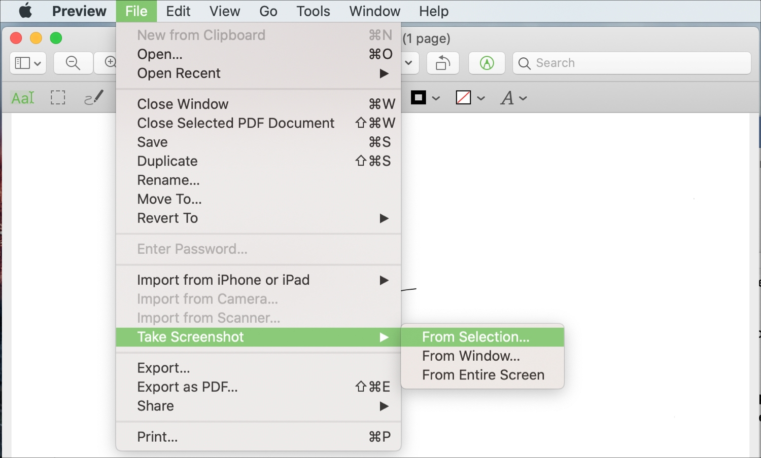 Preview Take Screenshot From Selection Mac