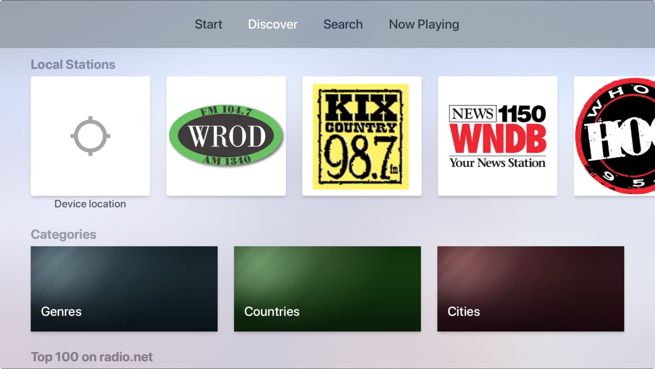 RadioDotNet en Apple TV
