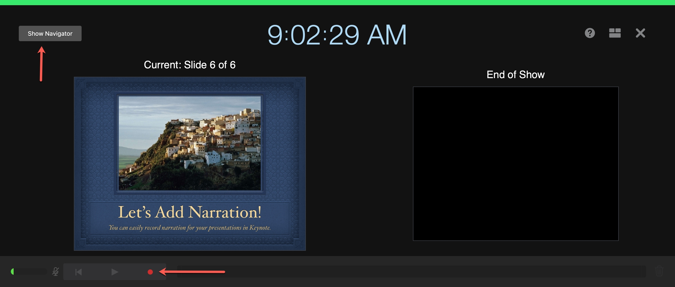 Record Narration Keynote Mac