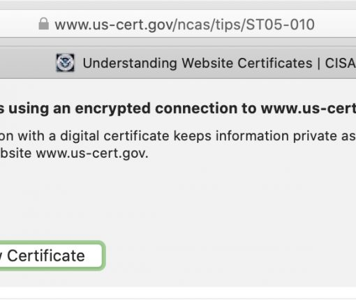 Safari See Digital Certificate