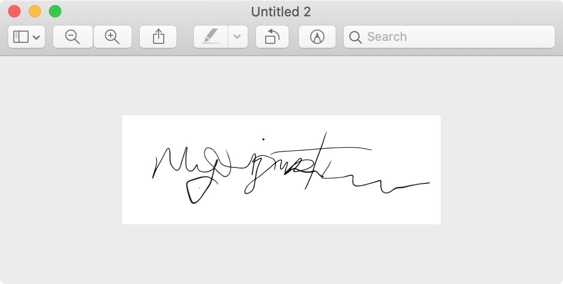 Signature Image Preview Mac