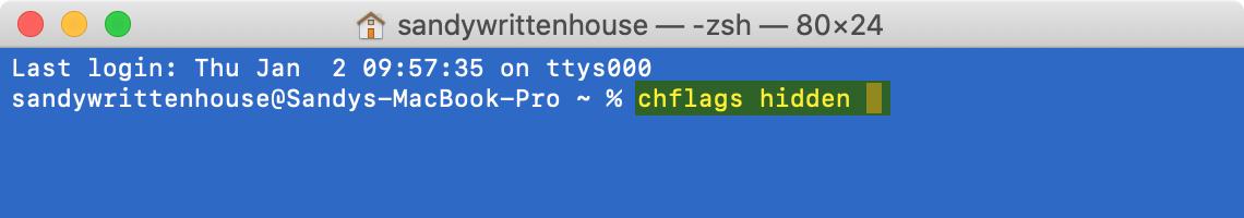 Terminal Command Hide File Folder